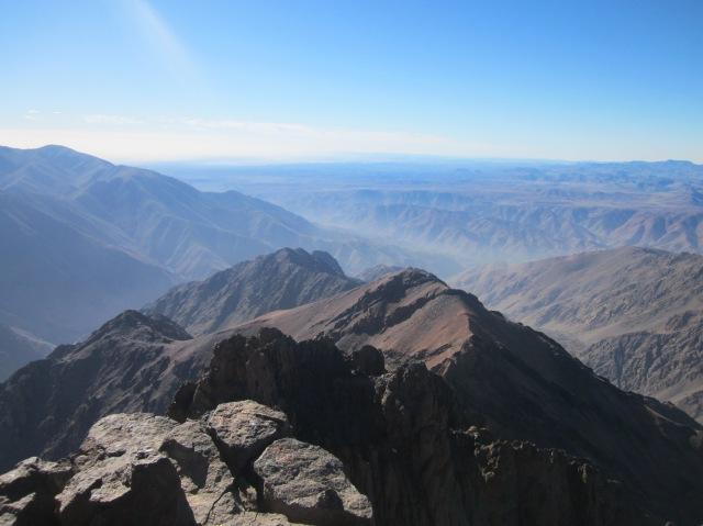 Paisaje del Atlas desde la cima
